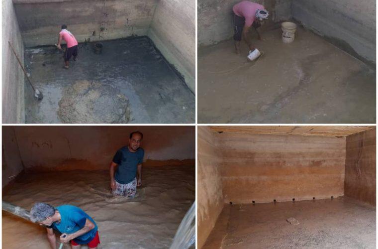 لایروبی و شست وشوی حوضچه های ذخیره آب تاسیسات آبرسانی روستاهای شهرستان هندیجان