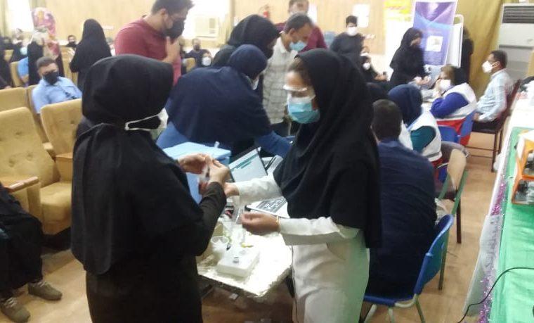 از واکسیناسیون ۳۴ درصد از جمعیت بالای ۱۸ سال در شهرستان هندیجان