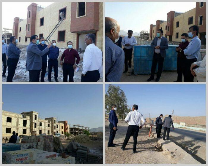 بازدید فرماندار آغاجاری از پروژه ۴۸ واحدی کمیته امداد امام (ره) این شهرستان