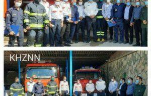 تجلیل از آتش نشانان شهرستان آغاجاری به مناسبت روز ملی آتش نشانی و ایمنی + تصاویر