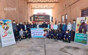 برگزاری مراسم تجلیل از آتش نشانان به مناسبت هفتم مهر ماه روز آتش نشانی و ایمنی در هندیجان