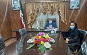 جلسه سرپرست هیئت اسکواش مسجدسلیمان با رئیس شورای شهر مسجدسلیمان