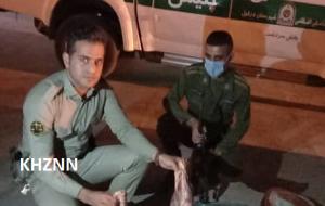 شکارچی غیر مجاز در دام پلیس دزفول گرفتار شد