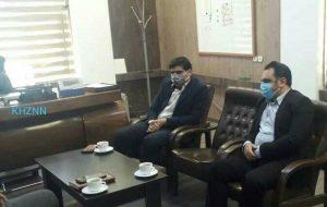 نشست فرماندار شهرستان آغاجاری با معاونت اداره کل راهداری ، حمل و نقل جاده ای خوزستان