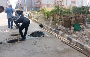 شروع پروژه لایروبی فاضلاب سایت های مسکن مهر هندیجان شمالی و هندیجان جنوبی + تصاویر